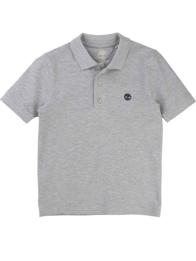 Grey Short-Sleeved Polo Shirt