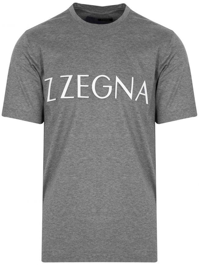 Grey Raised Logo T-Shirt