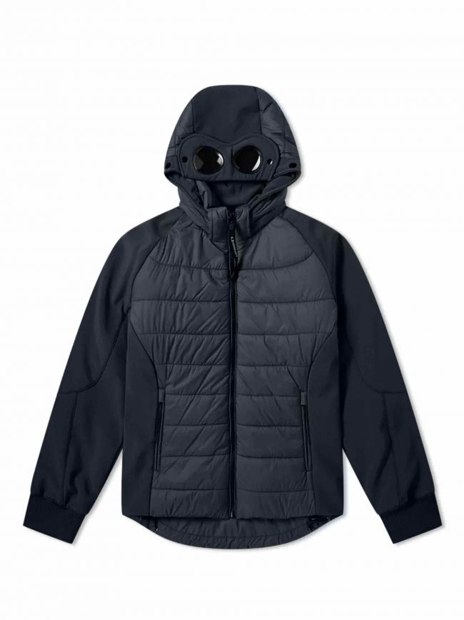 Navy Quilted Goggle Soft Shell Jacket