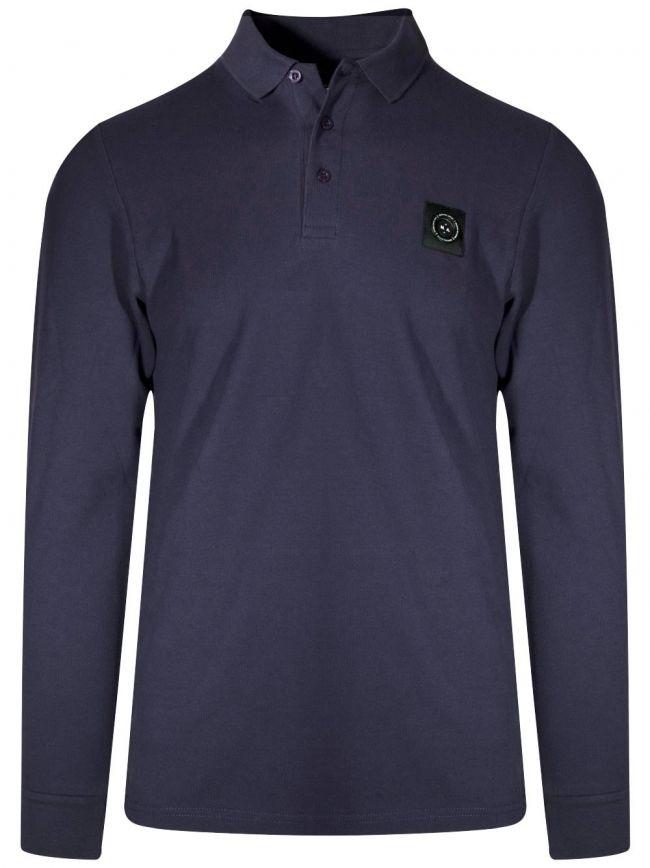 Navy Long-Sleeved Siren Polo Shirt