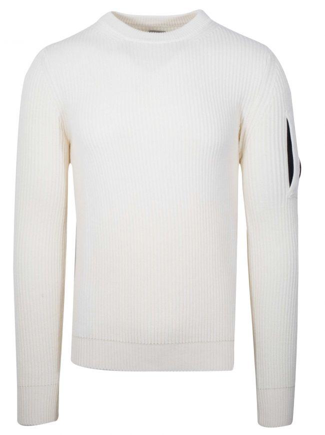 Offwhite Crew Neck Wool Sweatshirt