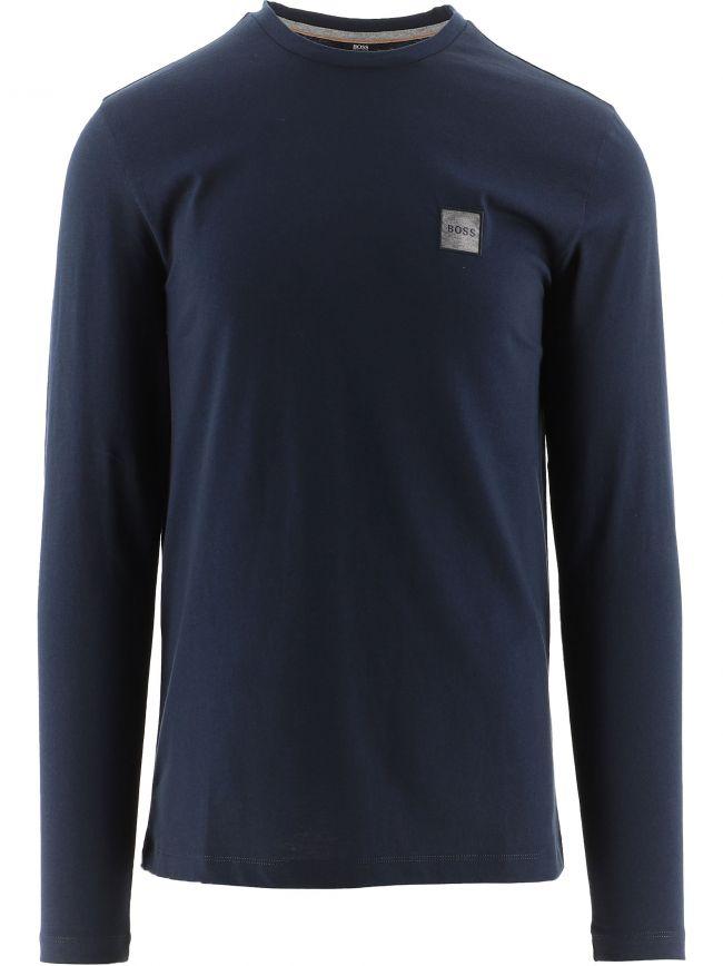Navy Long Sleeved Organic Cotton Tacks 1 T-Shirt