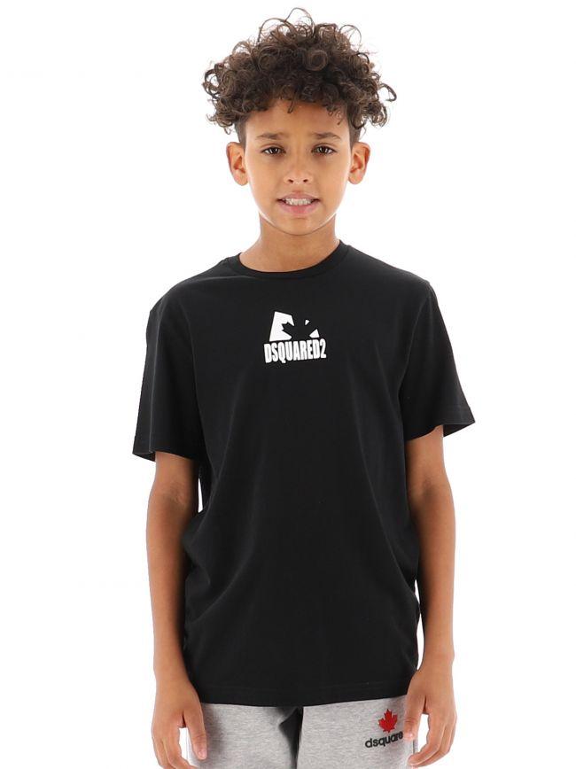 Black Shadow Leaf T-Shirt