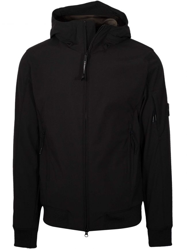 Black Hooded Soft Shell Jacket