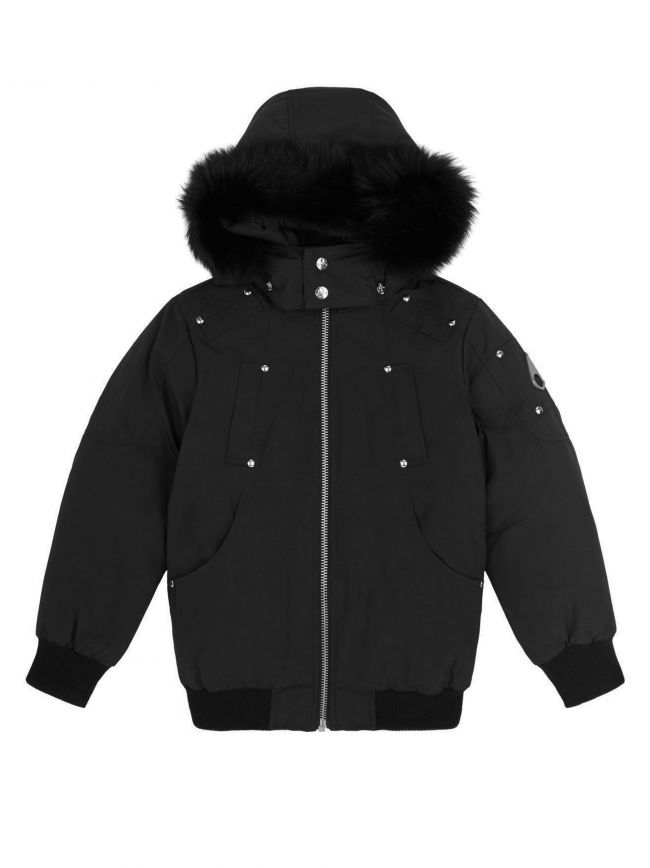 Black Bomber Parka Jacket