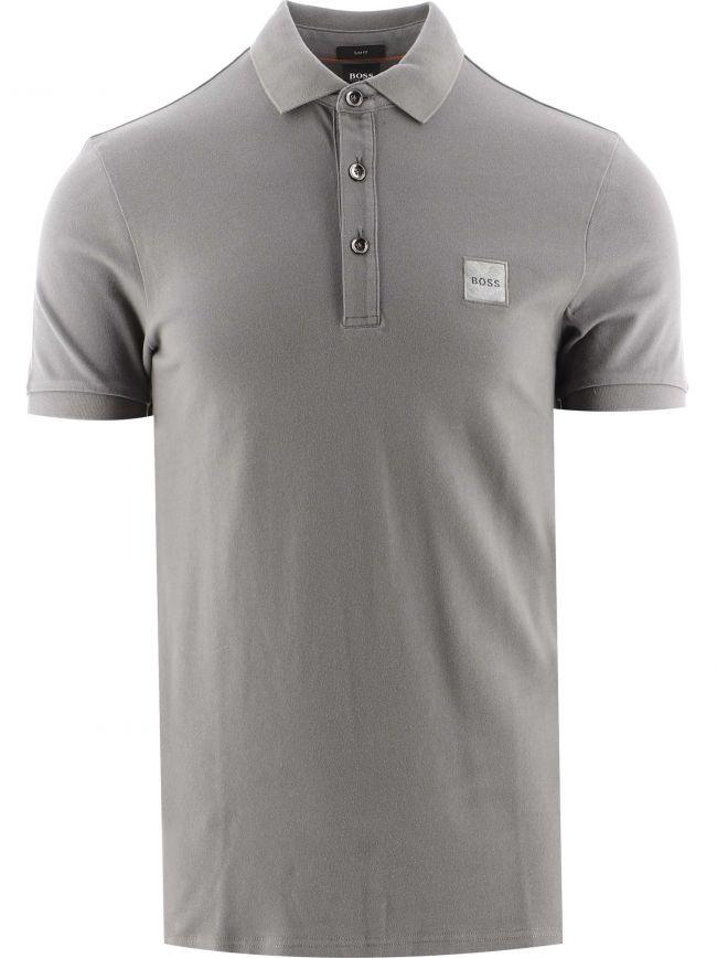 Grey Slim Fit Stretch Cotton Passenger 1 Polo Shirt