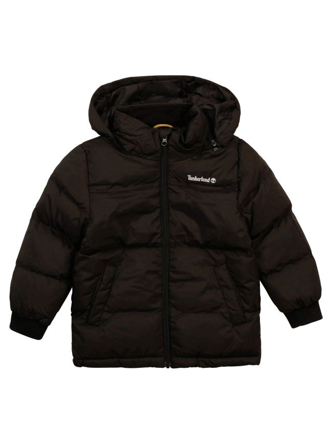 Black Water repellent Hooded Puffer Jacket