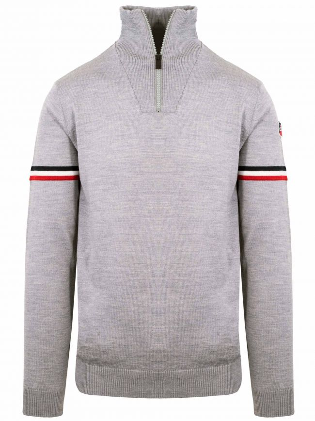 Grey Marius Half Zip Sweatshirt