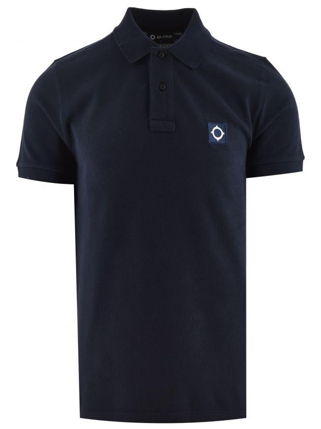 True Navy Short Sleeved Pique Polo