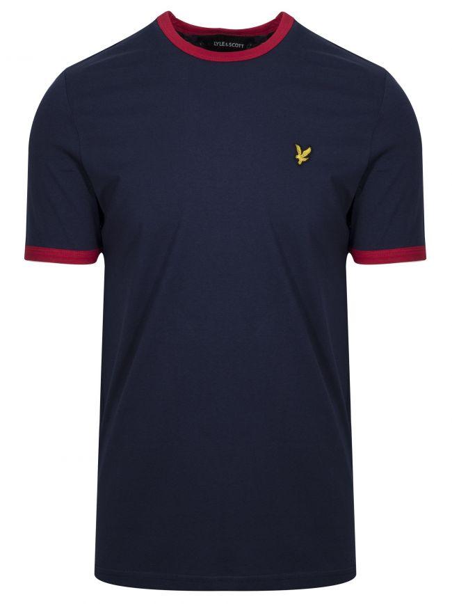 Navy Ringer T-Shirt