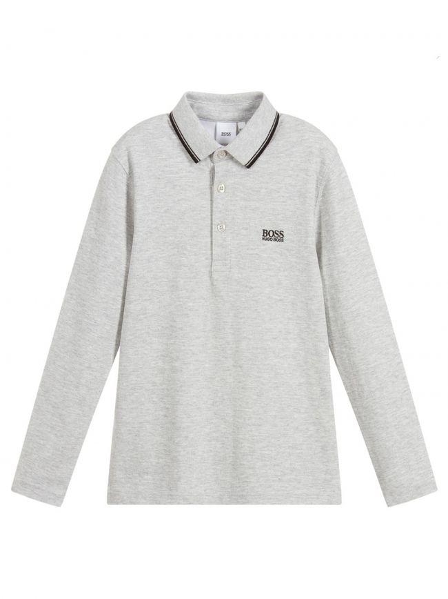 Grey Piquí© Cotton Polo Shirt