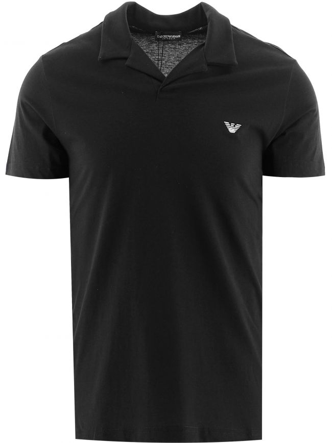 Black Short Sleeve Polo Shirt