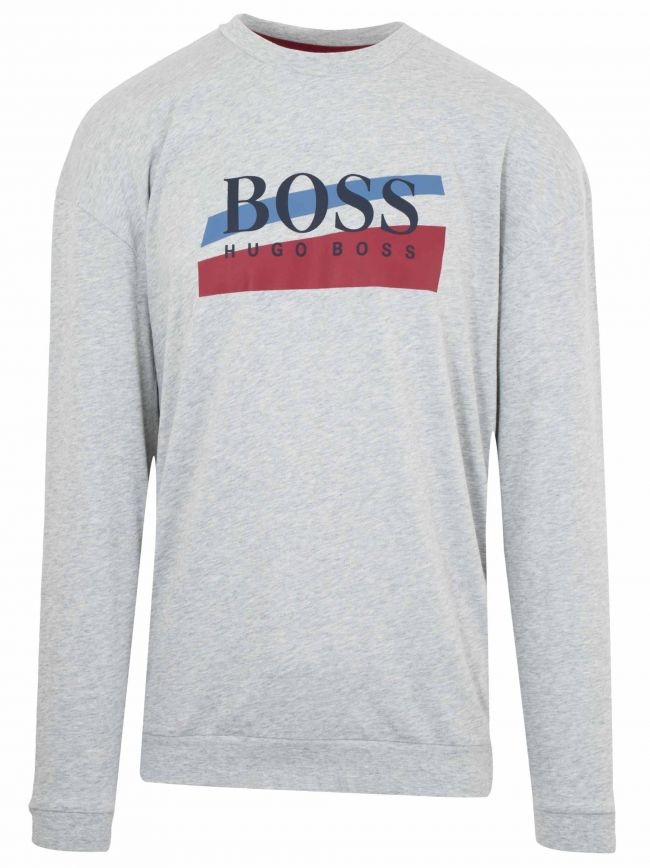 Grey Crew Neck Logo Sweatshirt
