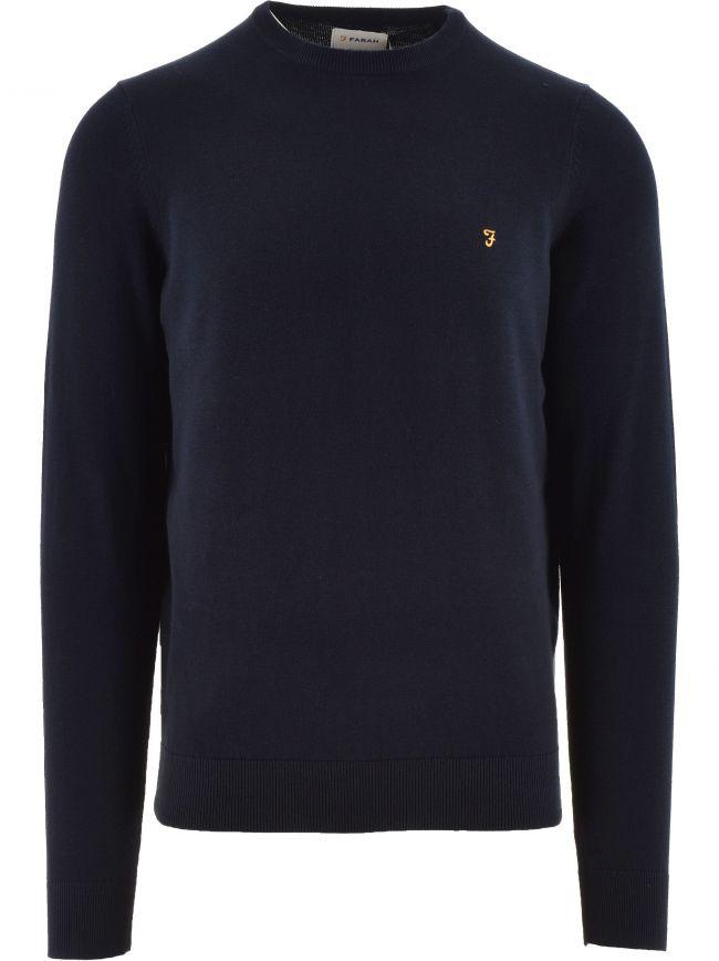 Navy Mullen Cotton Sweatshirt