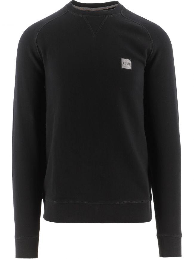 Black Relaxed Fit Melange Logo Patch Westart 1 Sweatshirt