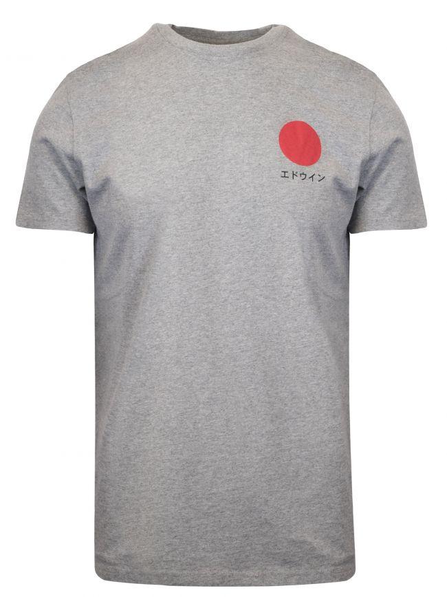 Grey Melange Japanese Sun T-Shirt