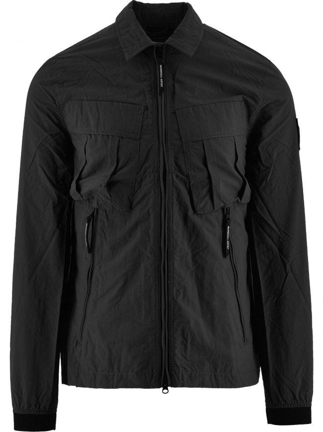 Black Cotton Polyamide 420 Overshirt