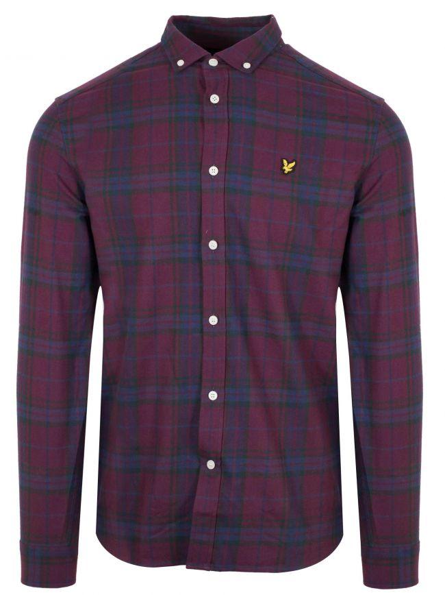 Burgundy Check Shirt