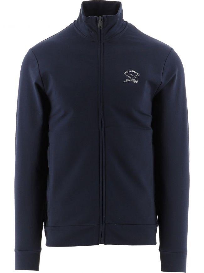 Blue Knitted Logo Jumper
