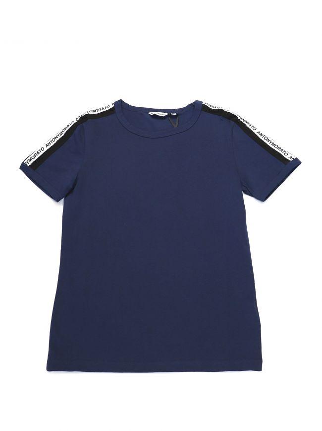 Antony Morato Kids Navy Tape Logo T-Shirt