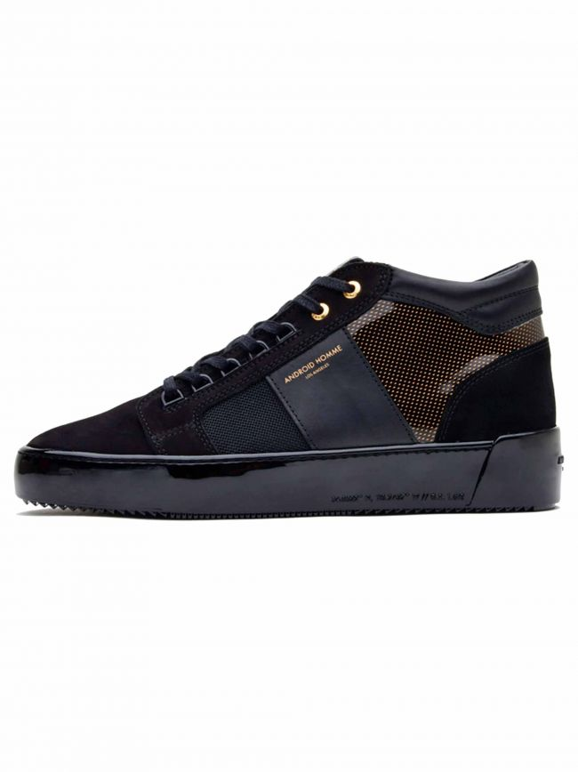Black & Gold Gloss Carbon Propulsion Mid Sneaker