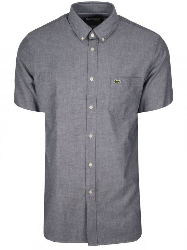 Regular Fitting Short-Sleeved Navy Shirt