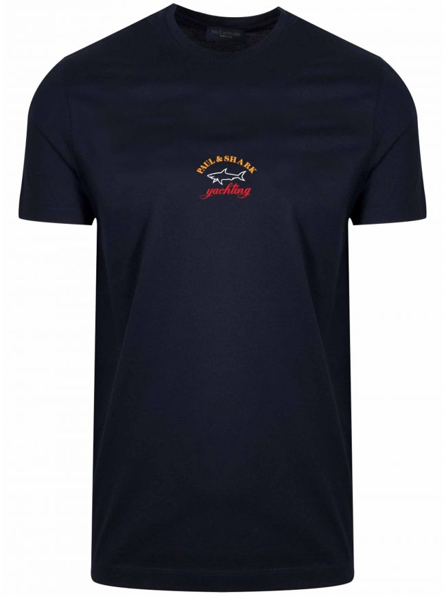Navy Central Chest Logo T-Shirt