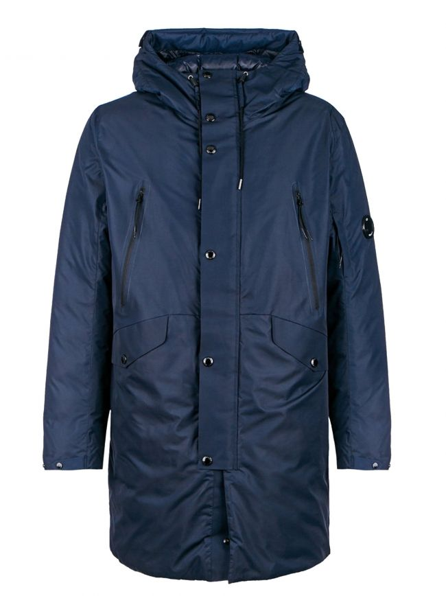 Navy Down Filled Parka Jacket