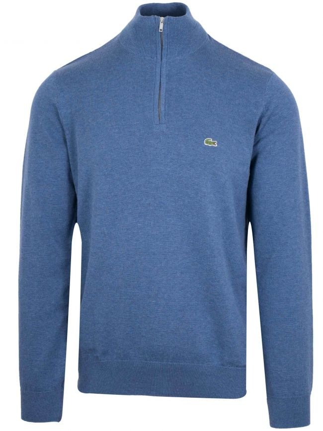 Classic Blue Melange Half Zip Sweatshirt