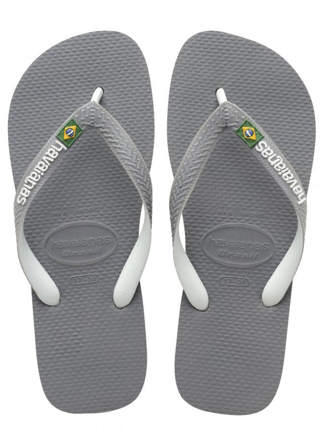 Grey Brasil Mix Logo Flip Flops