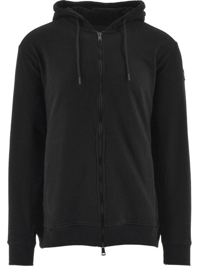 Black Heritage Logo Fleece Zip Sweater