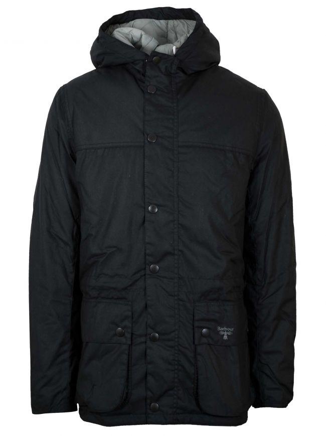 Hooded Durham Black Waxed Jacket