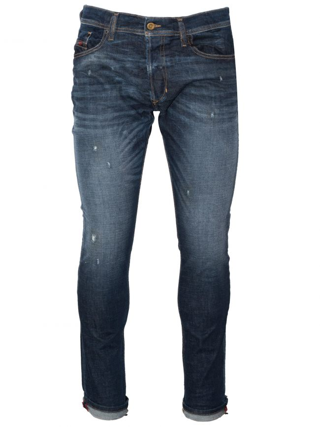 Slim-Carrot Fit Tepphar Blue Distressed Jean