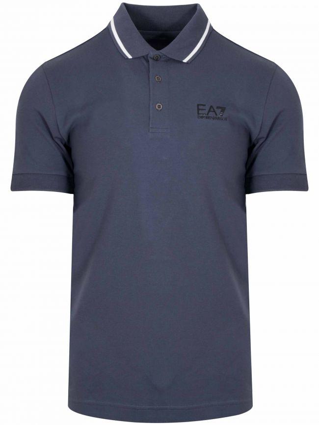 Ombre Blue Pique Polo Shirt