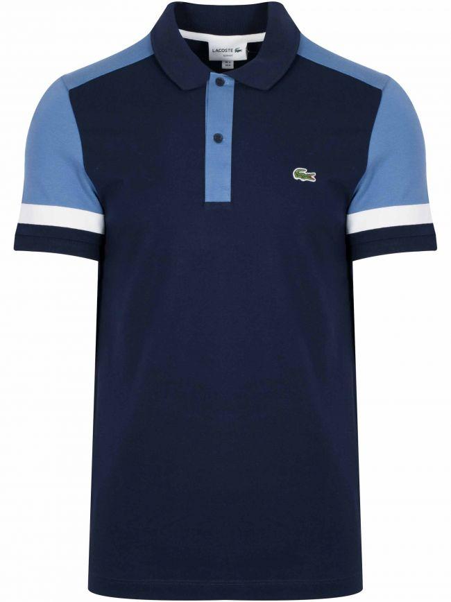 Navy Block Colour Polo Shirt