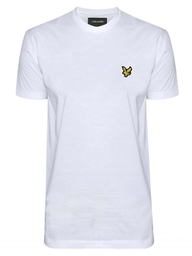 White Crew Neck T Shirt