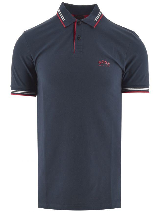 Dark Blue Paul Curved Polo Shirt