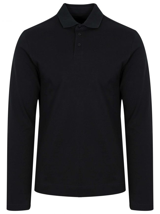 Black Long Sleeved Polo Shirt