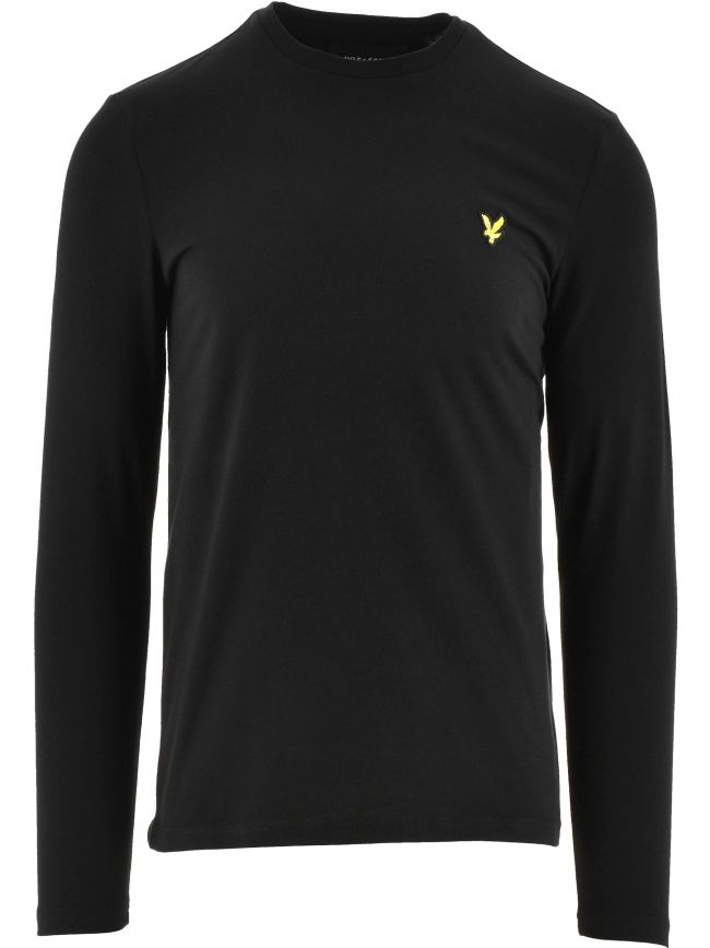 Black Plain Long Sleeve T-Shirt
