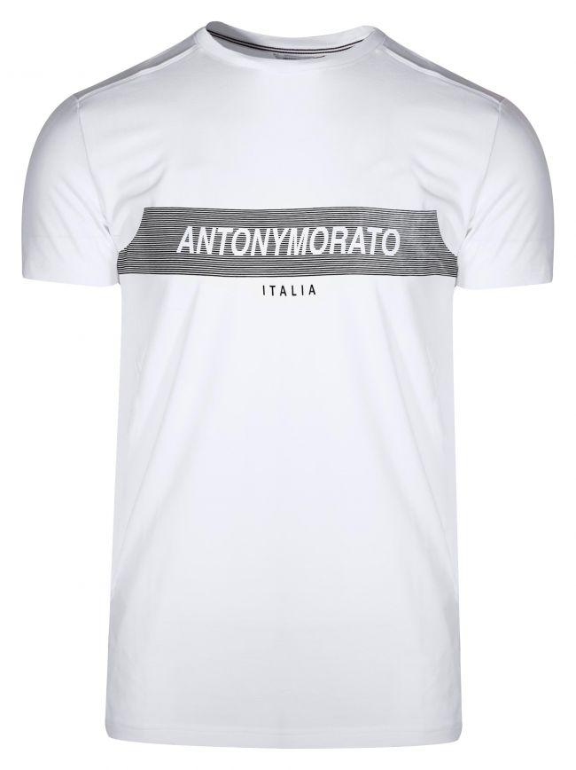 Crew Neck White Logo T-Shirt