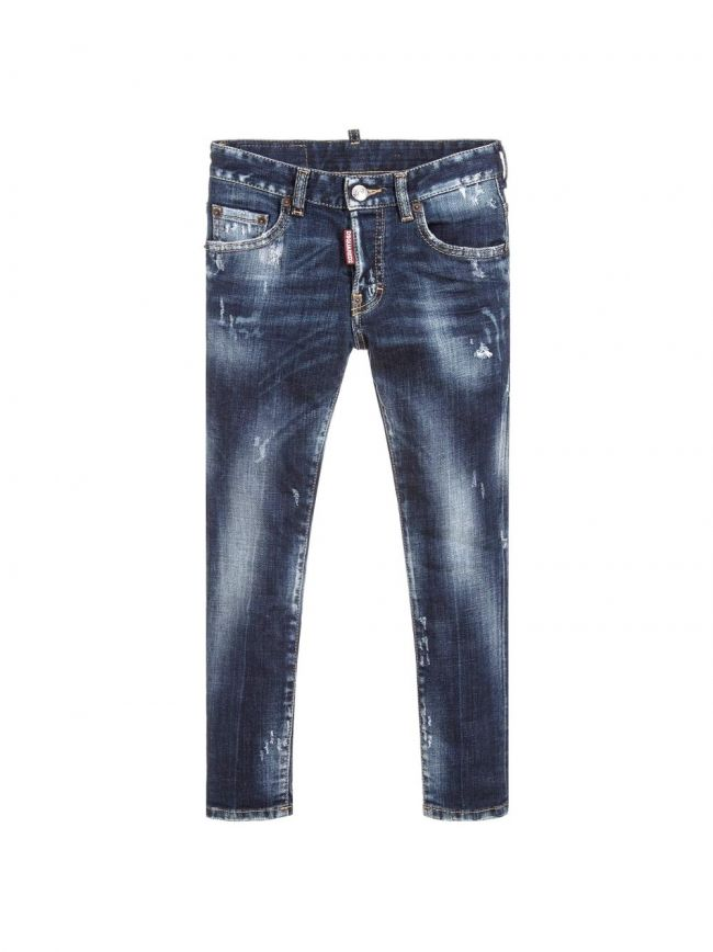 Blue Rinse Distressed 'Skater' Jean