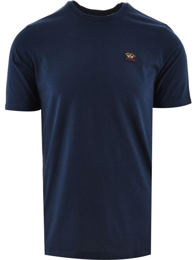 Blue Heritage Logo Egyptian Cotton T-Shirt