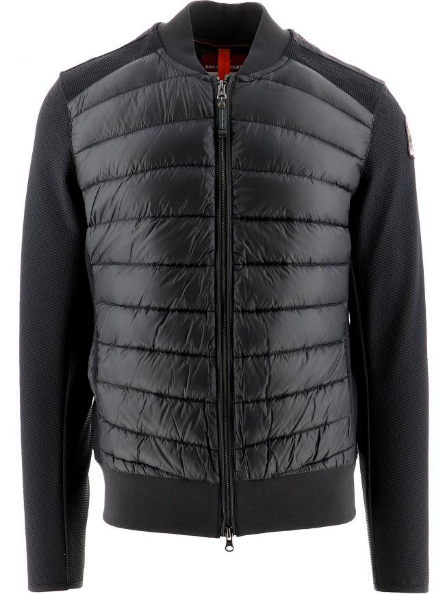Black Terence Fleece Nylon Jacket