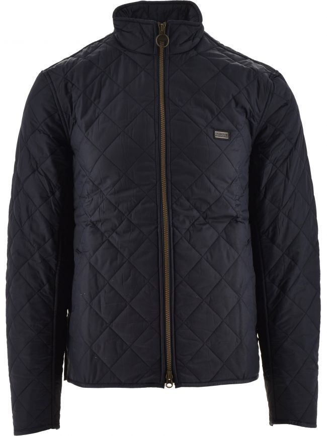 Navy Gear Quilt Jacket