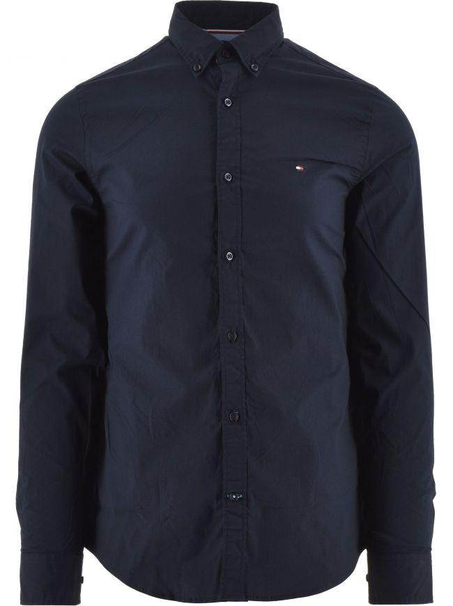 Navy Core Stretch Slim Fit Shirt