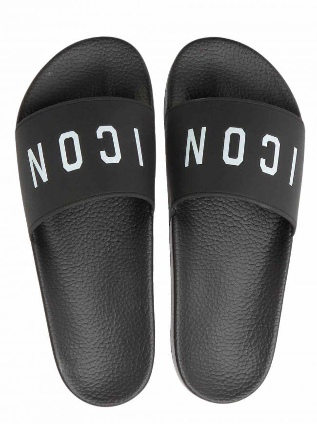 Black ICON Slide Sandals
