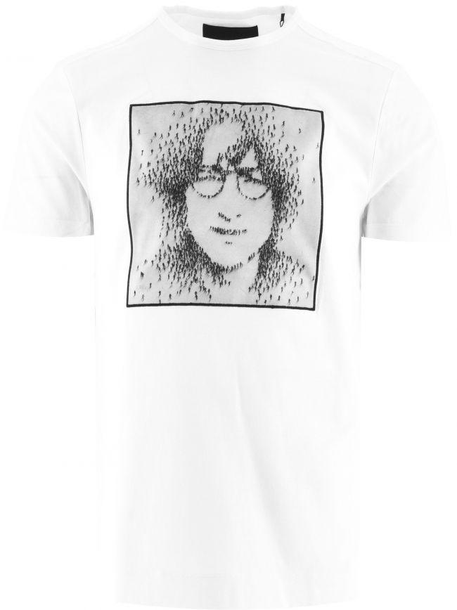 White Oh Yoko BP T-Shirt Designed by Craig Alan
