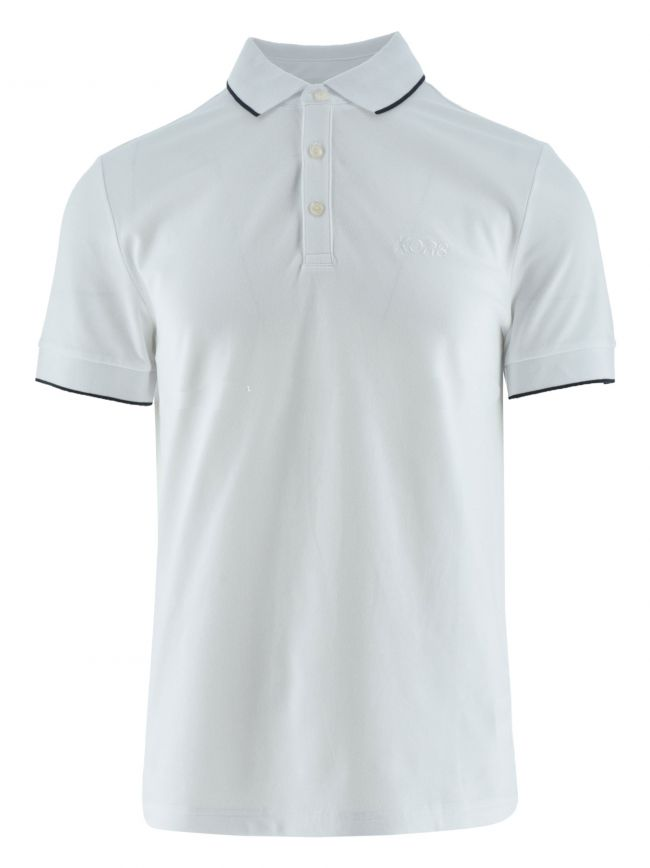 White Piped Collar Polo Shirt