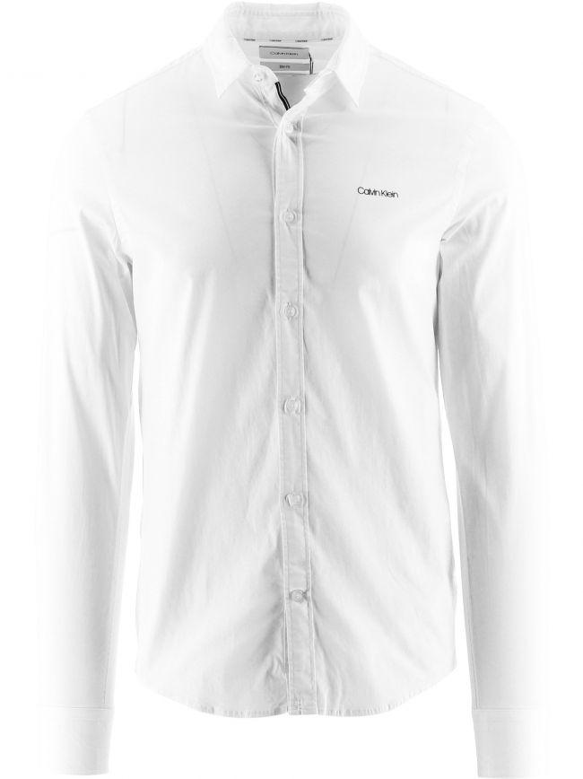 White Organic Cotton Slim Fit Shirt