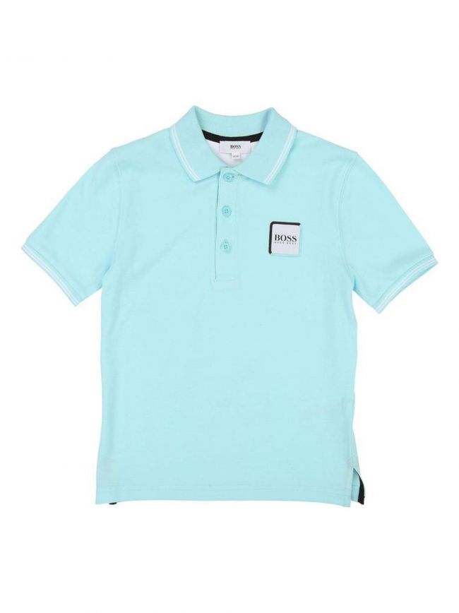 Turquoise Patch Logo Polo Shirt
